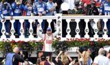 Earnhardt celebrates Pocono sweep