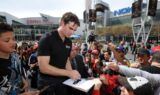 Jeff Gordon visits L.A. Live for Auto Club