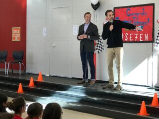 Johnson, Knaus celebrate #se7en with students