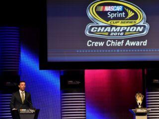 Watch Knaus' champion crew chief speech