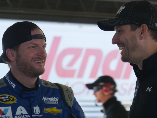 At the track with Earnhardt: 'Good to be back to work'